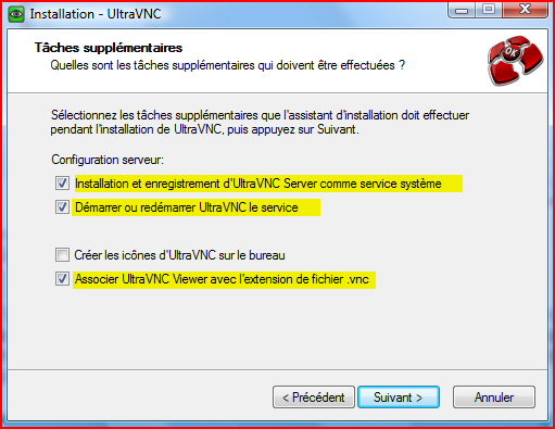 Demander de l'aide avec UltraVNC